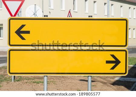 empty road sign / Signpost