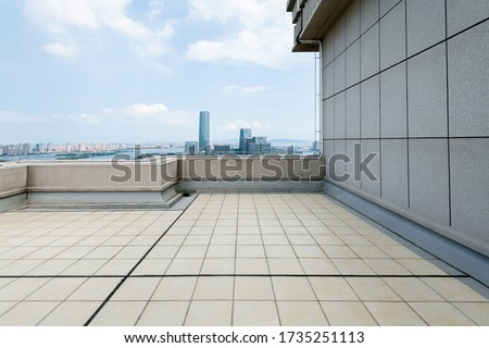 Empty rooftop in the city. Stock photo ©