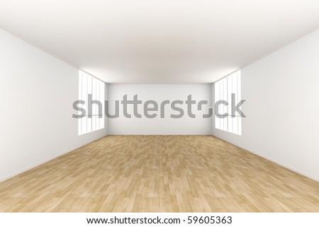 Empty room. 3D rendered Illustration. - stock photo
