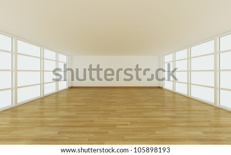 Empty room for decorate design