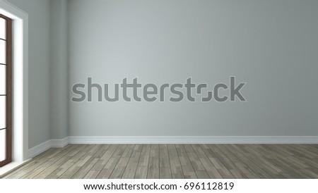 empty room interior design background with window 3d rendering by Sedat SEVEN