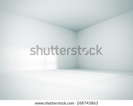 Shutterstock Empty Room Interior White Background. 3d Render Illustration