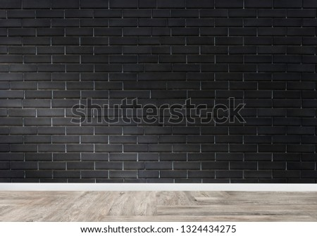 Empty room with a brick wall mockup