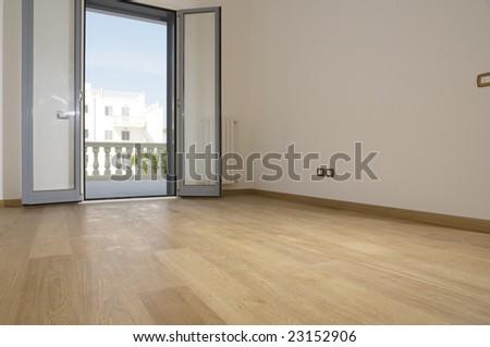 empty room with hardwood floor