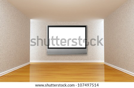 Empty room with lcd tv