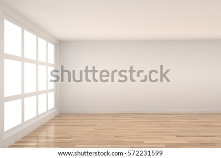 empty room with light interior in 3D rendering