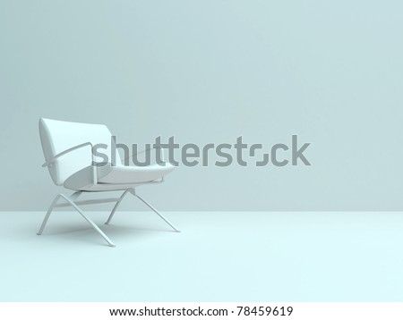 Empty room with one chair.