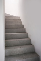 Empty room with staircase and direction to success, leader way. Abstract ladder stair upstair or downstair