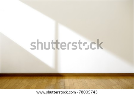 Empty room with sun light