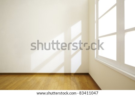 Empty room with sunlight.