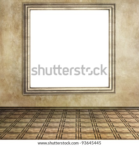empty room with tile floor and isolated window