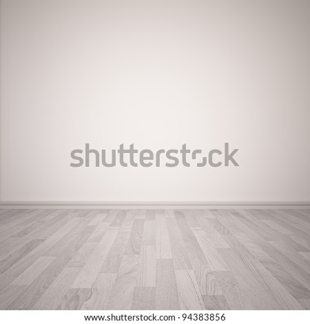 Empty room with wall and wooden floor