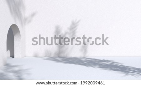 Empty room with Wall Background. 3D illustration, 3D rendering Foto stock ©