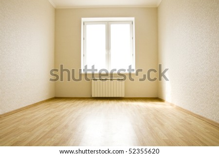 Empty room without furniture in a new building