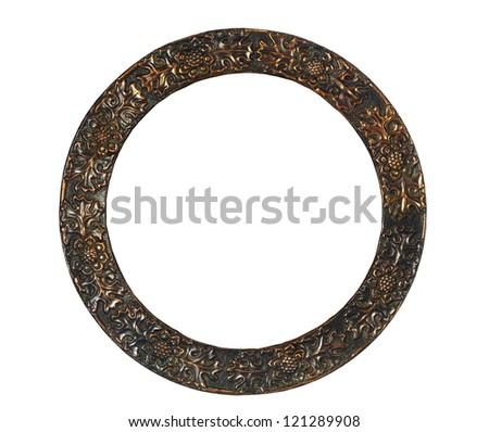 empty round frame on white background