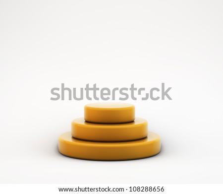 empty round stage pyramid - stock photo