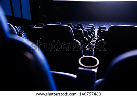 Empty rows of streets in a cinema/theater. #140757463