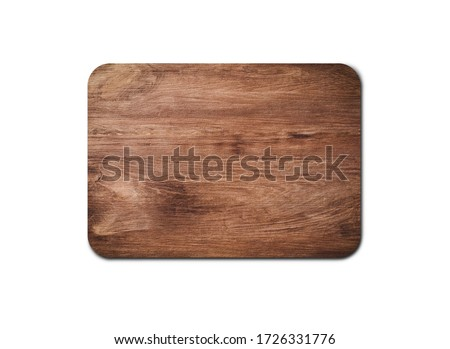 Empty rustic wood board texture isolated on white background with copy space for design or work. clipping path Stock foto ©