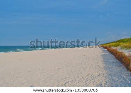 Empty sandy beach Baltic day clear sand clear