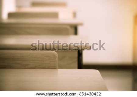 empty school classroom with...