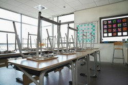 Empty school - due to corona virus COVID-19