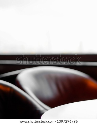 Empty seat defocused blur background #1397296796