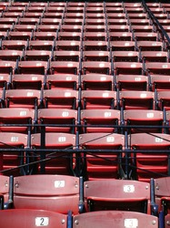 Empty seats at Boston's Fenway Park.