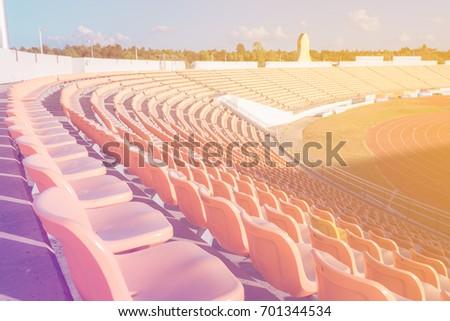 empty seats at soccer stadium   ...