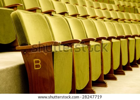 Empty seats for cinema, theater, conference or concert