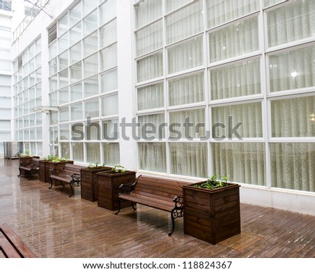empty seats in modern office building.