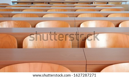 Empty seats in new modern clean lecture hall or classroom Stock photo ©