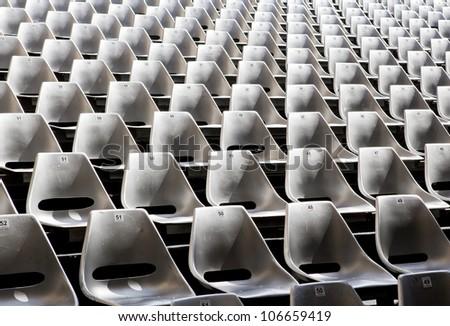 Empty seats in outdoor concert hall