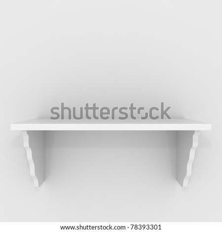 Empty Shelf - 3d illustration