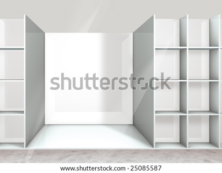 empty shelf on the department store