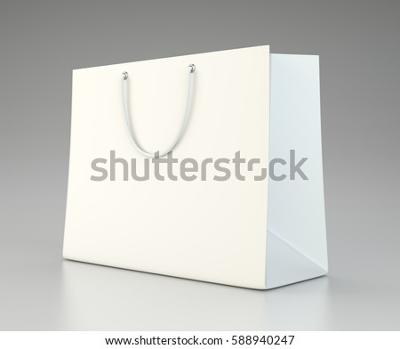 Empty shopping bag for advertising and branding. mock up. 3d rendering