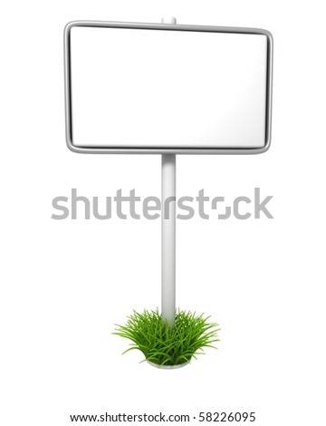 Empty Sign on Grass