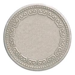 Empty silver coin