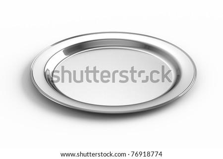 Empty silver plate