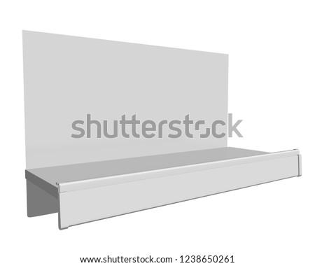 Empty Small Shelf. 3D rendering #1238650261