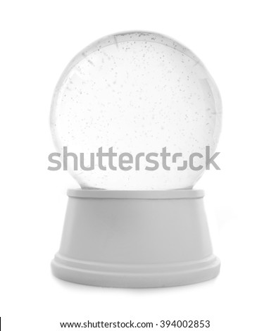 Empty snow globe isolated on white #394002853