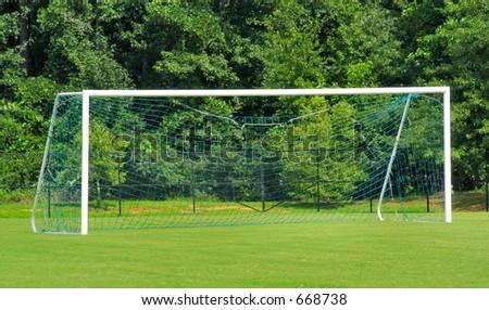 Empty Soccer Goal