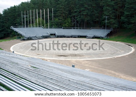 Empty song contests arena in Vilnius, Lithuania #1005651073