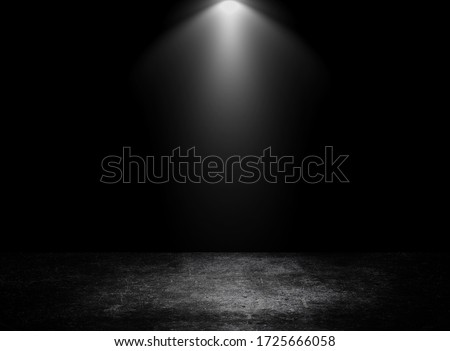 Empty space of Concrete floor grunge texture background with spotlight.