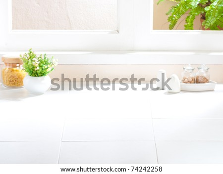 Empty space of the kitchen interior image to putting your ideas or products into it