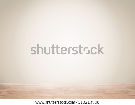 Empty space with wall and wooden floor