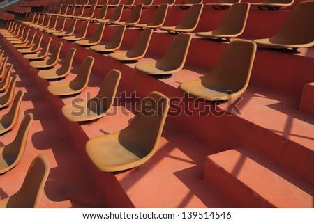 Empty  sport stadium seats