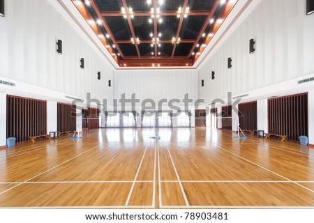 Empty sports court