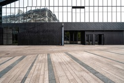 Empty Square Front Of Modern Architectures