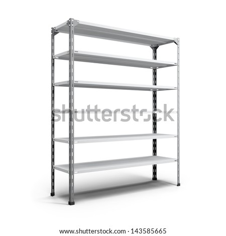 empty store shelving