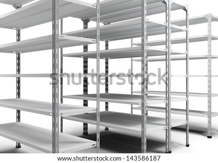 empty store shelving